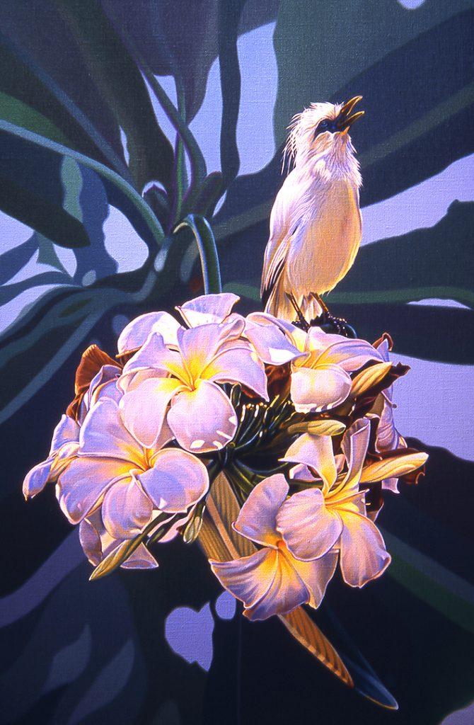Jalak Bali Starling Painting - Balinese Symphony