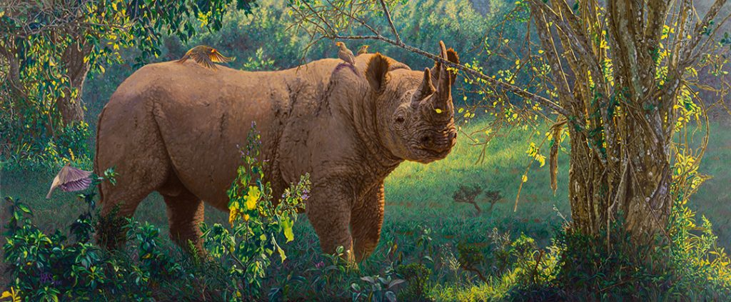 Rhino Painting - Monarch of the Aberdares