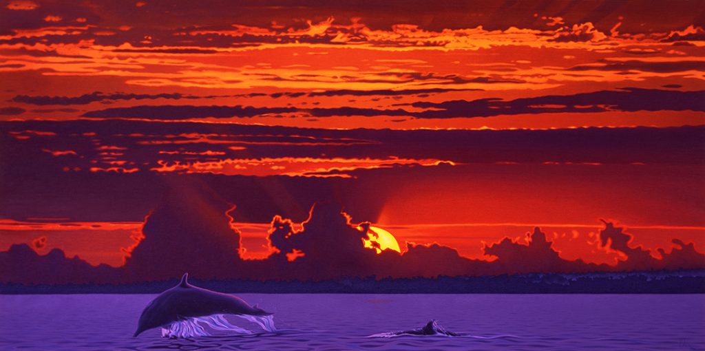 Dolphin Painting - Morning has Broken