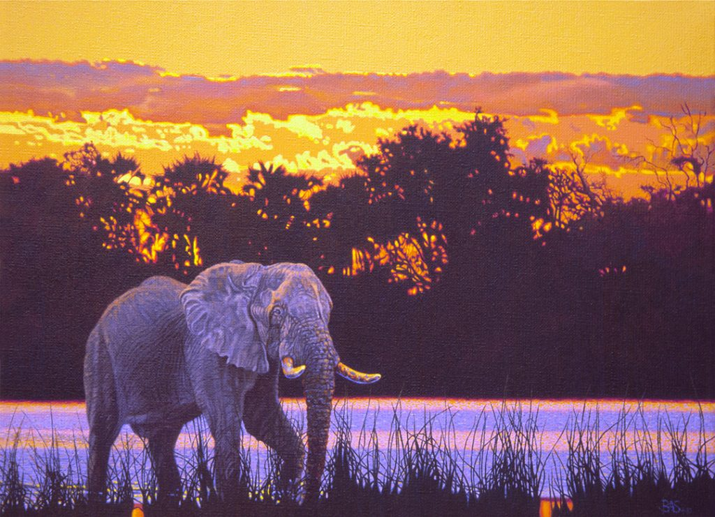 Elephant Painting - Okovango Odyssey