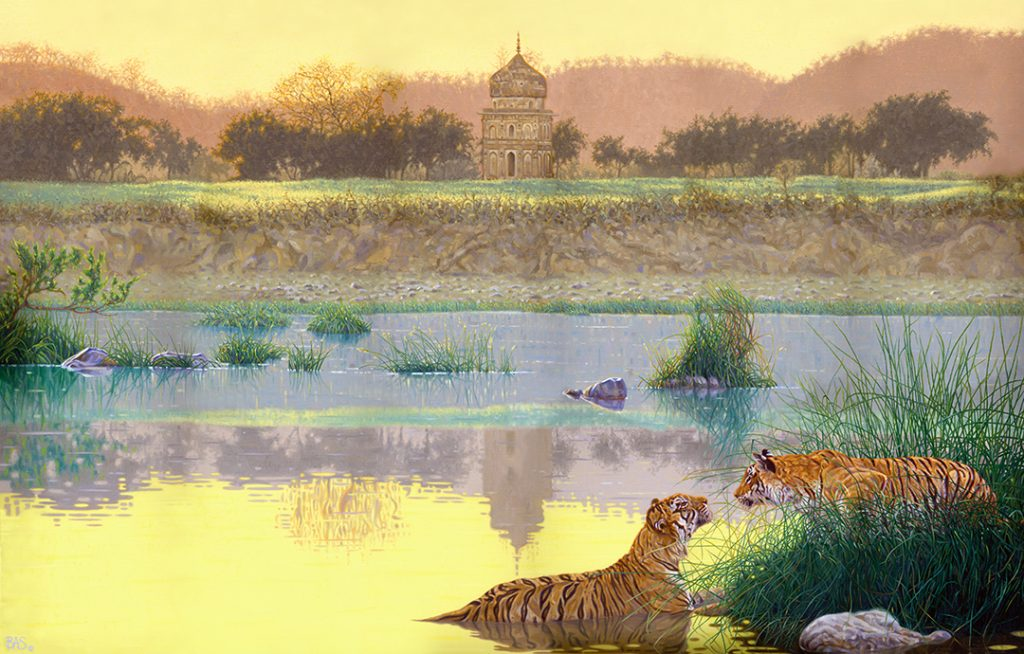 Tiger Painting - Promise of India