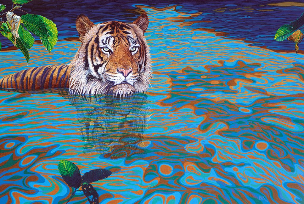 Tiger Painting - Rainforest Regent