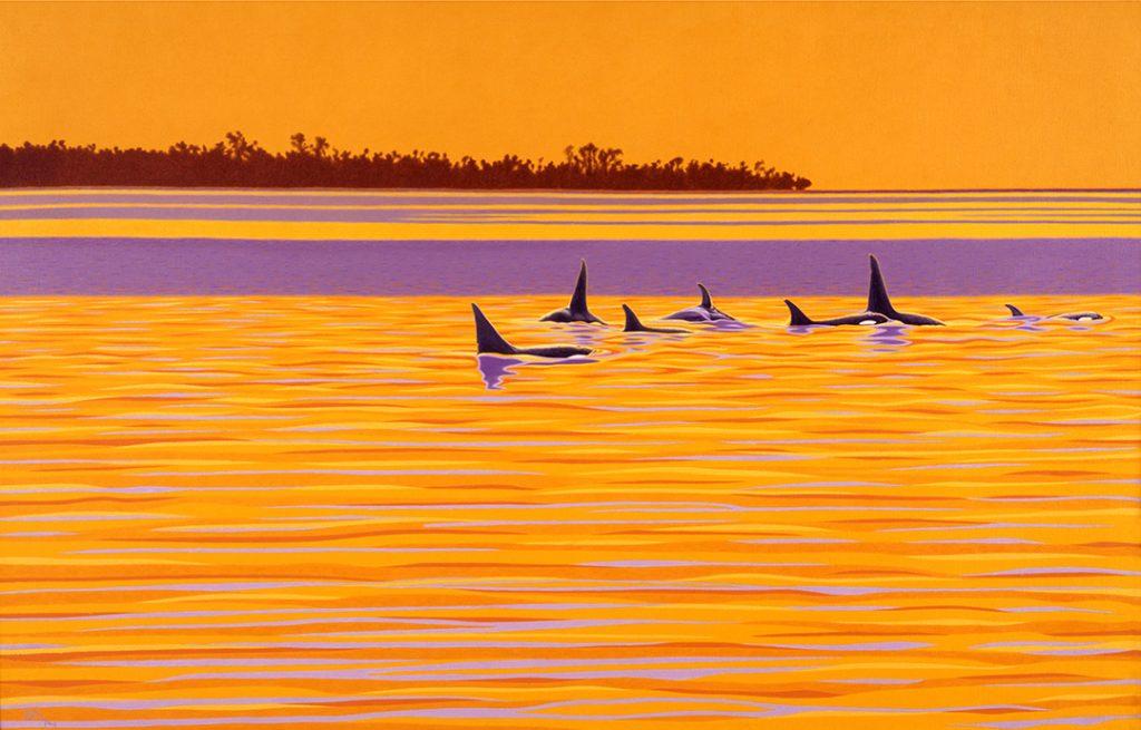 Orca Painting - Sulawesi Seawolves