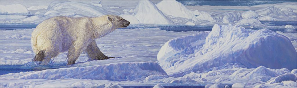Polar Bear Painting - Treading on Thin Ice