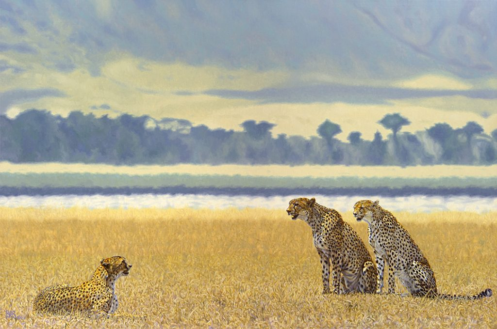 Cheetah Painting Hot Hazy Days